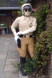 Estatua de un poli o de un policía americano de motocicleta Fotografía de archivo