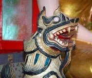 Estatua de un templo burmese Foto de archivo libre de regalías