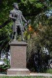 Estatua de Vasco da Gama en Evora Foto de archivo libre de regalías
