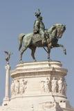 Estatua de Vittorio Manuel II Foto de archivo libre de regalías
