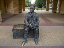 Estatua de Wadysaw Reymont en la calle de Piotrkowska - Lodz - Polonia fotos de archivo libres de regalías