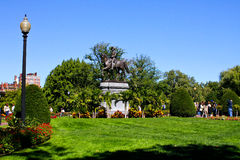 Estatua de Washington en los jardines públicos de Boston Fotos de archivo