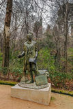 Estatua de Washington Irving, Granada, España Foto de archivo