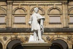 Estatua de William Etty y de York Art Gallery Fotografía de archivo libre de regalías