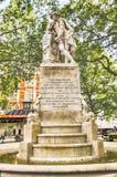 Estatua de William Shakespeare en el cuadrado de Leicester, Londres foto de archivo