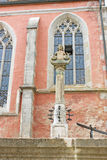 Estatua decorativa de la fuente Foto de archivo libre de regalías
