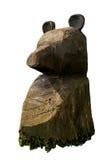 Estatua decorativa de madera del oso Fotos de archivo