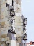 Estatua decorativa que adorna la pared de la iglesia negra en el Brasov Imágenes de archivo libres de regalías