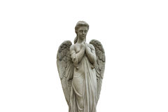 Estatua del ángel aislada Foto de archivo libre de regalías