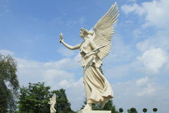 Estatua del ángel del castillo de Schwerin, Alemania fotos de archivo