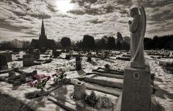 Estatua del ángel en el cementerio de Ely Imagenes de archivo