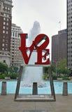 Estatua del amor de Philadelphia - parque del amor Foto de archivo libre de regalías
