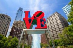 Estatua del amor en Philadelphia imagen de archivo libre de regalías