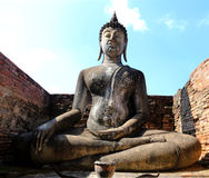 Estatua del arte 0f Buda en Tailandia foto de archivo