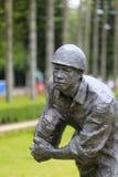 Estatua del asalto del soldado con el paquete explosivo Imagen de archivo