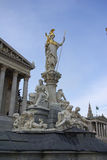Estatua del Athene Fotografía de archivo libre de regalías