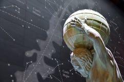 Estatua del atlas Imagen de archivo libre de regalías