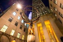Estatua del atlas en el centro de Rockefeller Fotos de archivo libres de regalías
