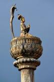Estatua del bronce de rey Yoganarendra Malla. Patan, Nepal Fotos de archivo libres de regalías