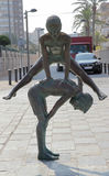 Estatua del bronce en la calle Imagenes de archivo