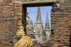 Estatua del budda de Buda en Tailandia Fotos de archivo libres de regalías