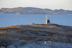Estatua del Círculo Polar Ártico imágenes de archivo libres de regalías