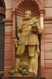 Estatua del caballero, castillo de Heidelberger, Alemania Foto de archivo libre de regalías