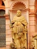 Estatua del caballero del castillo de Heidelberg Fotos de archivo