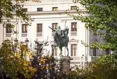 Estatua del campeón de Cid en Burgos fotos de archivo libres de regalías