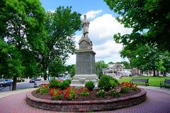 Estatua del campus de la universidad del Mt Holyoke Foto de archivo libre de regalías