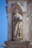 Estatua del Cappella di Piazza Imagenes de archivo