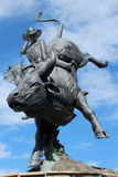 Estatua del carril Frost, Cheyenne, Wyoming Fotografía de archivo libre de regalías