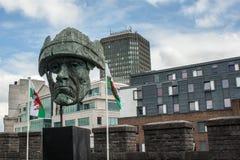 Estatua del castillo de Cardiff Fotos de archivo libres de regalías