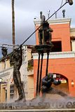 Estatua del cineasta en Universal Studios fotografía de archivo libre de regalías