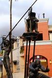 Estatua del cineasta en Universal Studios imagen de archivo