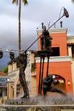 Estatua del cineasta en Universal Studios imagenes de archivo