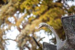 Estatua del cisne Foto de archivo