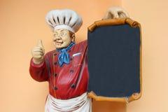 Estatua del cocinero Fotos de archivo