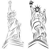 Estatua del conjunto de la libertad Imagen de archivo libre de regalías