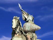 Estatua del cruzado de Bruselas Imágenes de archivo libres de regalías