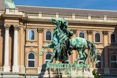 Estatua del Csikos (caballo Wrangler húngaro) Fotografía de archivo