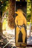 Estatua del delfín del rosa de la leyenda Foto de archivo libre de regalías