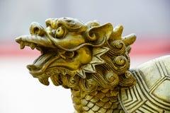 Estatua del dragón chino Foto de archivo