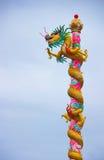 Estatua del dragón del estilo chino Fotografía de archivo