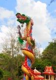Estatua del dragón del estilo chino Foto de archivo libre de regalías