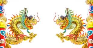 Estatua del dragón del estilo chino Fotografía de archivo libre de regalías