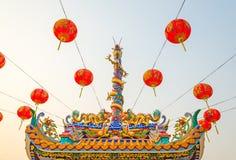 Estatua del dragón del estilo chino Imágenes de archivo libres de regalías