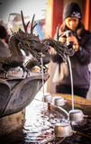 Estatua del dragón en Asakusa Sensoji en Tokio, JAPÓN Fotografía de archivo