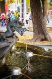 Estatua del dragón en Asakusa Sensoji en Tokio, JAPÓN Imagen de archivo libre de regalías