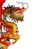 Estatua del dragón en blanco y negro Imagenes de archivo